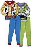 Komar Kids Baby-Boys Infant Toy Story Cotton 4 Piece Pajama Set, Multi, 12 Months