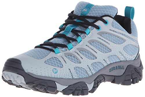 Merrell Women's Moab Edge Hiking Shoe, Light Blue, 6.5 M US