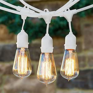 Nostalgic Outdoor String Lights : Amazon.com : BrightechTM - Ambience Pro Vintage Edition Outdoor Commercial String Lights with ...