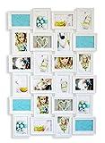 levandeo Bilderrahmen 96094 inklusiv Schrauben - Weiß für 24 Fotos
