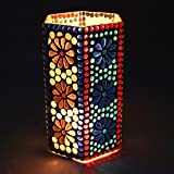 EarthenMetal Handcrafted Mosaic Design Decorated Hexgonal Shaped Tealight Holder (Candle Holder)