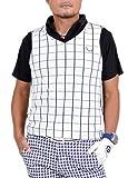【コモンゴルフ】 COMON GOLF ウィンドウペン ニット ゴルフ ベスト CG-BS622 XL ホワイト