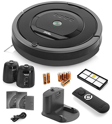 iRobot Roomba 880 Vacuum Cleaning Robot + 2 Virtual Wall Lighthouses (With Batteries) + Remote Control (With Batteries) + Extra HEPA Filter + More (Irobot Roomba 880 Virtual Wall compare prices)