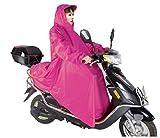 選べる 8色 バイク用 レインコート ポンチョ タイプ 簡単 着るだけ (ローズ)