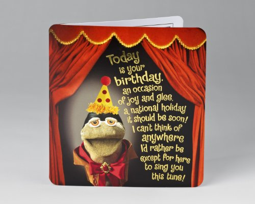 Sock Puppet Birthday Card