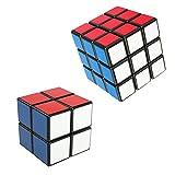 Ilinkbrand スピードキューブ 2種類セット 立体パズル 3×3×3、2×2×2ルービックキューブ 57mm (ブラック)