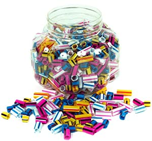 Creation Station Barrel of Striped Straw Beads