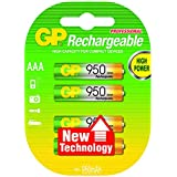 GP Rechargeable Batteries AAA Micro HR 03 NiMH 1.2V 1000 mAh
