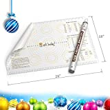 """XL Silicone Pastry Mat With Measurements. 26""""x18"""" Non-Slip Sheet Sticks To Countertop For Rolling Dough (Extra Large)"""