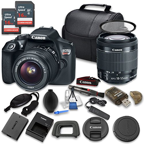 Canon EOS Rebel T6 DSLR Digital Camera & EF-S 18-55mm f/3.5-5.6 IS II Lens with 2pc 16GB Memory Cards - International Version (No Warranty) (Film Color Chart compare prices)