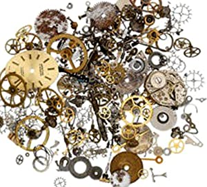 2 Ounces (60 grams) Vintage Watch Parts Pieces for Crafting Steampunk Jewelry & Altered Art
