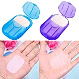 SODIAL(R) 2 boxes Mini Washing Hand Bath Travel Scented Slide Sheets Foaming Box Paper Soap