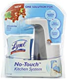 Lysol No-Touch Kitchen System Dish Soap Dispenser Starter Kit, Berry, 8.5 Ounce