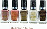 Barry M - The Royal Collection Textured Glitter Nail Paint Set of 5 includes: Pink Princess, Gold Majesty, Nude Duchess, White Pearl and Purple Countess (5x10ml bottles)