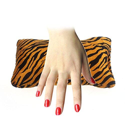 Culater® Knochenform Nageldesign Tiger Kissen Spalte Schwamm Hand Kissen