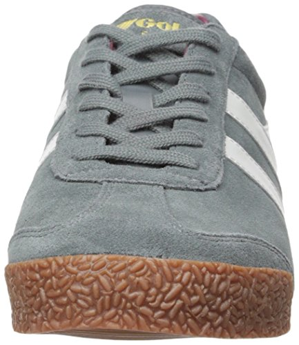 Gola Men's Harrier Fashion Sneaker, Graphite/White/Burgundy, 8 UK/9 M US