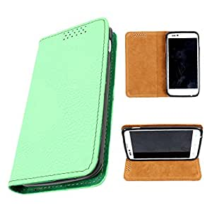 i-KitPit PU Leather Flip Case For iBall Andi 5 E7 (GREEN)