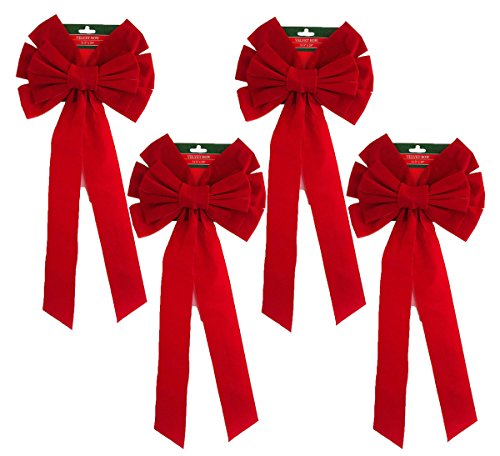 red-velvet-bow-4-pack-26-long-10-wide-10-loop-holiday-christmas-bow