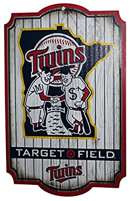 MINNESOTA TWINS MLB TARGET FIELD 11 x 17inch wood Sign