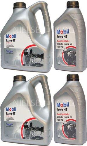 Mobil Extra 4T 10w40 Semi Synthetic Engine Oil MOB-142322-10 2x4L+2x1L=10L