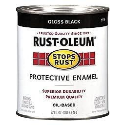 7779504 Protective Enamel Paint Stops Rust 32-Ounce Gloss Black