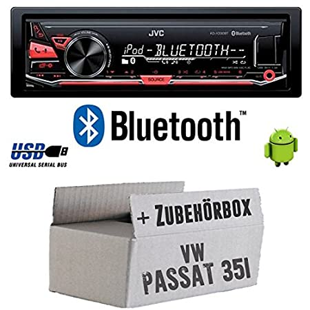 VW Passat 35i 3A +-JVC KD x330bt-Bluetooth MP3USB Radio voiture-Kit de montage