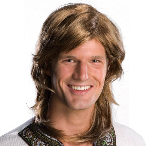 Rubie's Costume 70's Guy Wig, Brown, One Size - 1