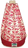 Funky Eco Friendly Red Symbols Jute Duffle Bag for life for Kids and Adults - trendy for Kit, Gym, School, Beach, Shopping.