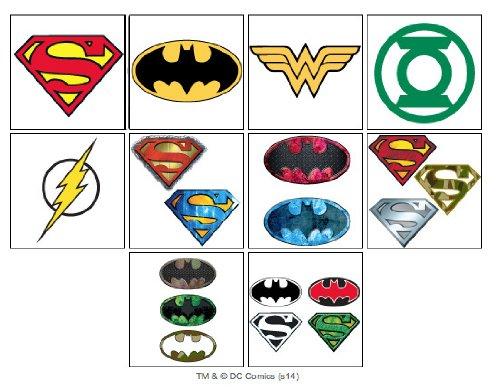 10 dc super hero temporary tattoos set of 10 batman for Superhero temporary tattoos