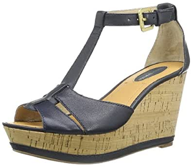 Marc O'Polo Wedge Sandal 40210881401111, Damen Sandalen, Blau (dark blue 880), EU 41 1/3 (UK 7.5)