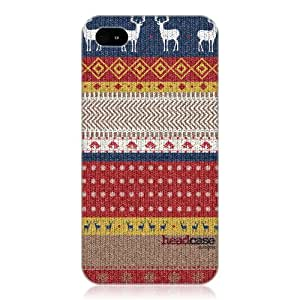 Head Case Designs Sweater Knitted Christmas Protective Back Case Cover for Apple iPhone 4 4S