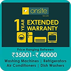 Onsite 1-year extended warranty for Large Appliance (Rs. 35001 to < 40000)