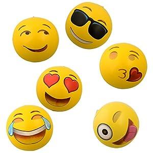 "Emoji Universe: 12"" Emoji Inflatable Beach Balls, 12-Pack from Kangaroo Manufacturing"