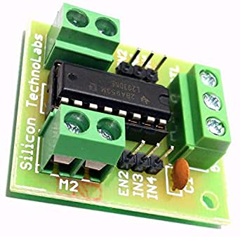 Silicon technolabs l293d ic based dc motor stepper motor for L293d motor driver module