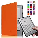 Fintie Kindle 5 & Kindle 4 Ultra Slim Case - The Thinnest and Lightest PU Leather Cover with Magnet Closure (Only Fit Amazon Kindle With 6'' E Ink Display, does not fit Kindle Paperwhite, Touch, or Keyboard), Orange