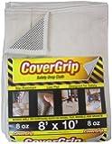 CoverGrip 081008 Safety Drop Cloth, 8-Feet by 10-Feet