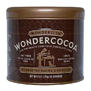 Wonderslim Wondercocoa Pure Fat-Free Cocoa Powder, 6-Ounce Can
