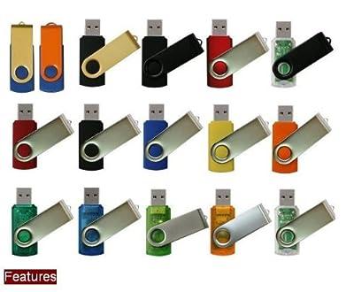 Swivel USB High Speed Metal Flash Memory Pen Drive Disk Stick (Ricco® 01-001)