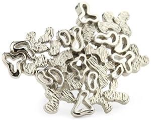 "Sparkling Sage ""Snowflake"" Silver Tone Ring, Size 7"