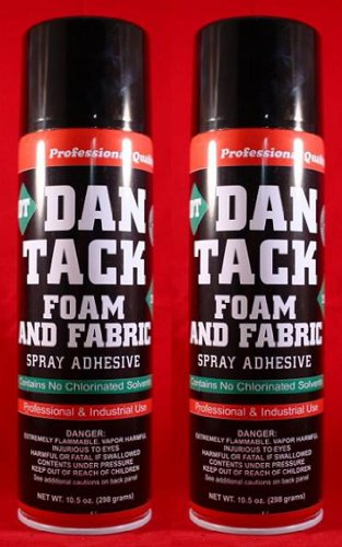 2 Cans of Dan Tack Foam Speaker Box Carpet Car Auto Liner and Fabric Spray Glue Adhesive