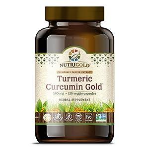 Nutrigold Turmeric Curcumin Gold , 500 mg, 120 veg. capsules