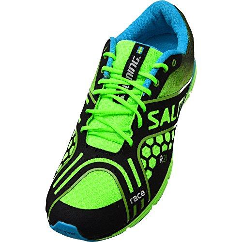 SALMING Race Scarpa da Running Uomo, Verde, 46
