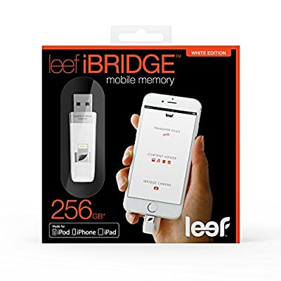 Leef iBRIDGE 32GB Mobile Memory iOS USB Flash Drive with Lightening Connector for Apple (White)