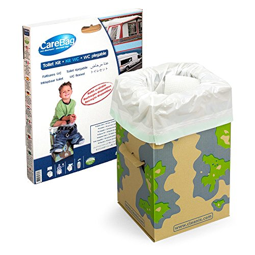 Cleanis Foldable, Reusable Toilet Kit with 12 Green Friendly CareBag Absorbent Bags - 1