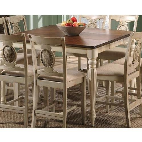 ... Counter Height Dining Table - Antique Buttermilk (4810-835N) (Dining