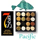 Pacific Gourmet Sea Salt Sampler with 16 Gourmet Sea Salts Complimenting the Cuisine of the Pacific Rim. Presented in a clear plastic case with full description of each salt..