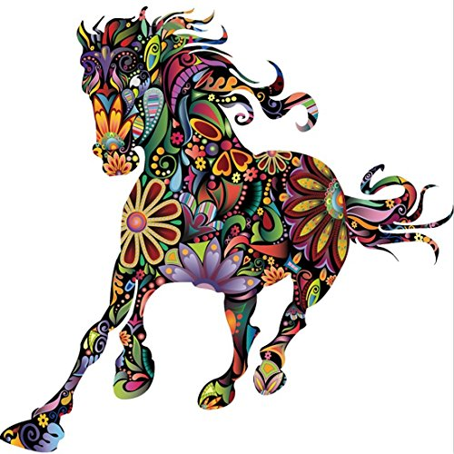 new-arrival-abstract-design-decorative-wall-decal-colorful-flower-pattern-pentium-horse-wall-sticker