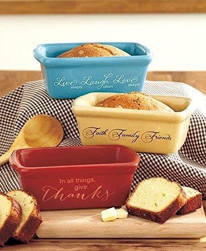 Set of 3 Stoneware Mini Loaf Pans