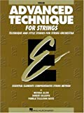 Advanced Technique for Strings: Violin : Technique and Style Studies for String Orchestra