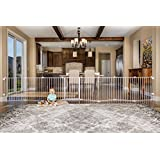 Regalo Super Wide Gate and Play Yard, 192-Inch, White